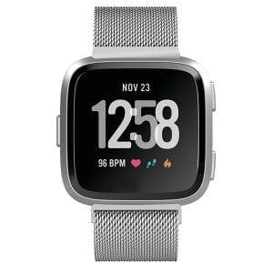 Fitbit Versa bandje milanese loop RVS zilver kleurig_006