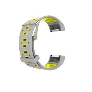 Fitbit charge 2 Sport bandje grijs - geel_002