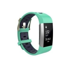 Fitbit charge 2 Sport bandje groen - paars_001