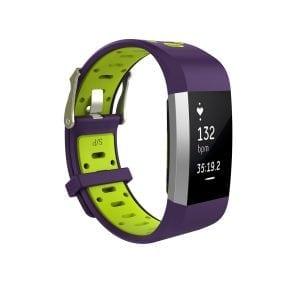 Fitbit charge 2 Sport bandje paars - geel_002