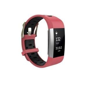 Fitbit charge 2 Sport bandje rood - zwart_002