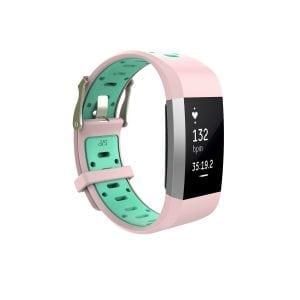 Fitbit charge 2 Sport bandje roze - groen_003
