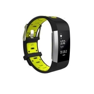 Fitbit charge 2 Sport bandje zwart - geel_001