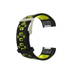Fitbit charge 2 Sport bandje zwart - geel_002