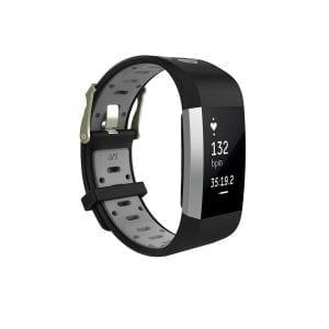 Fitbit charge 2 Sport bandje zwart - grijs_001
