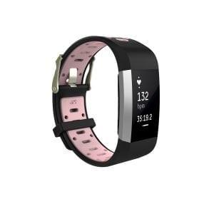 Fitbit charge 2 Sport bandje zwart - roze_001