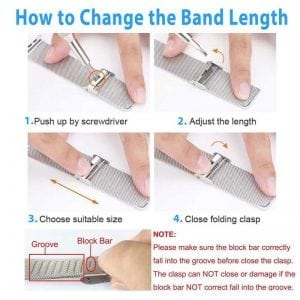 RVS zilver kleurig metalen bandje - armband voor de Fitbit Charge 2_011