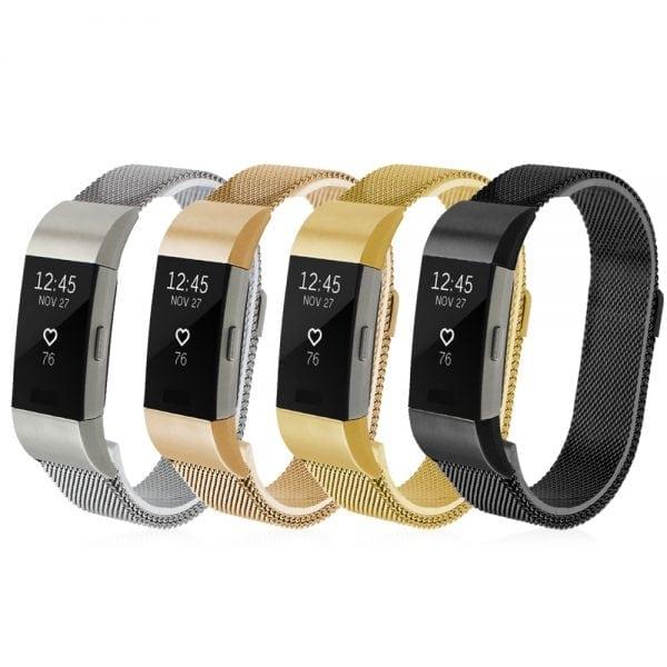 RVS zilver kleurig metalen milanese loop bandje voor de Fitbit Charge 2_004
