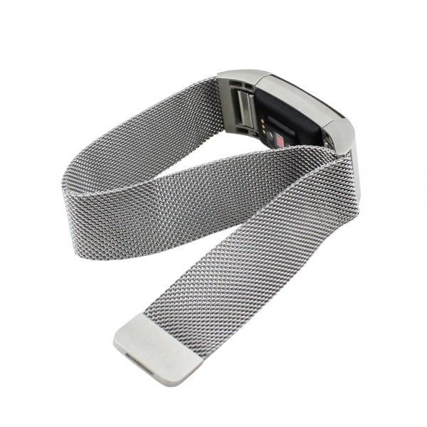 RVS zilver kleurig metalen milanese loop bandje voor de Fitbit Charge 2_005