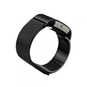 RVS zwart kleurig metalen milanese loop bandje voor de Fitbit Charge 2_002