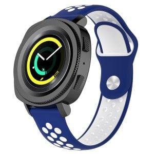 Samsung Gear Sport bandje blauw - wit_003