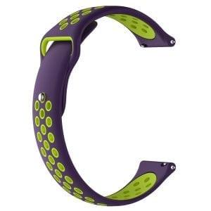 Samsung Gear Sport bandje paars - geel_002