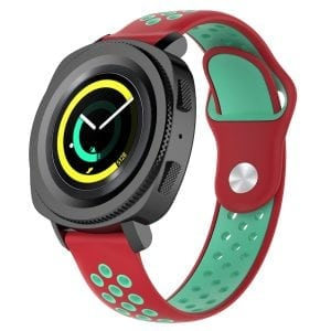 Samsung Gear Sport bandje rood - groen_003