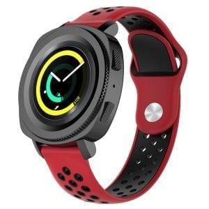 Samsung Gear Sport bandje rood - zwart_003