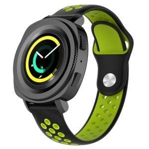 Samsung Gear Sport bandje zwart - groen_003