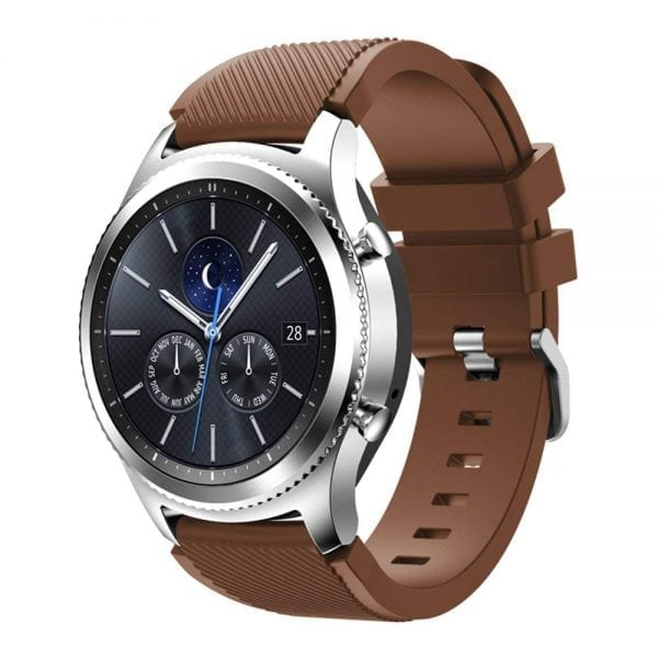 Samsung gear S3 Bandje chocolade bruin-002