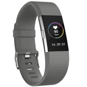 FitBit Charge 2 bandje large Siliconen - grijs_005