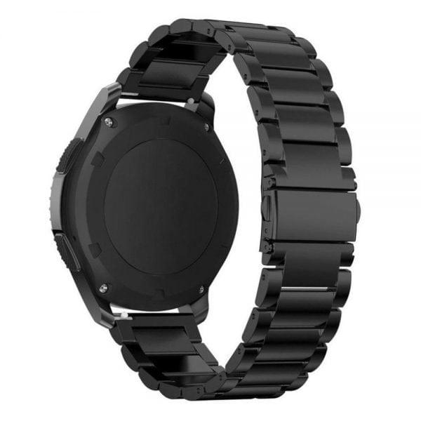 Samsung Gear S3 bandje RVS zwart metaal-002
