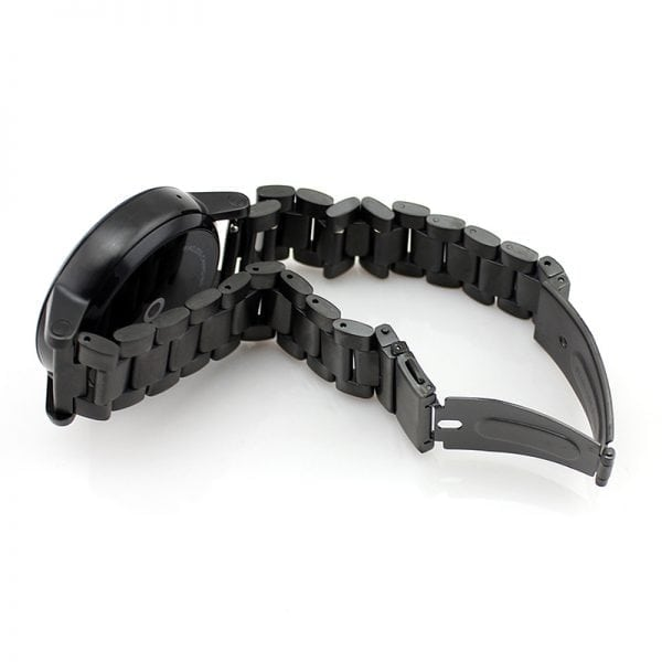 Samsung Gear S3 bandje RVS zwart metaal-006
