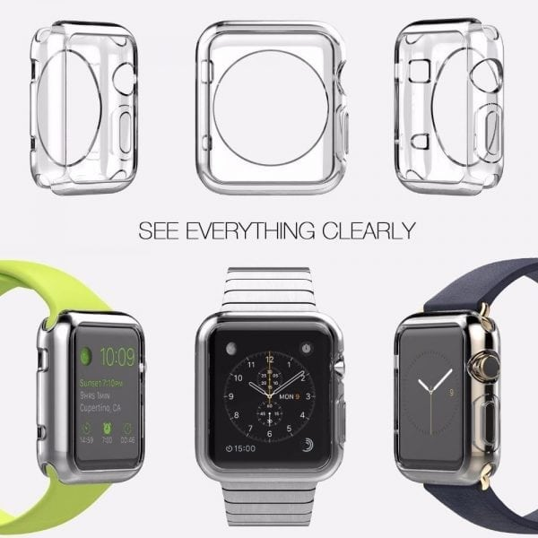 38mm beschermende Case Cover Protector Apple watch 1 - 2 - 3 transparant_007