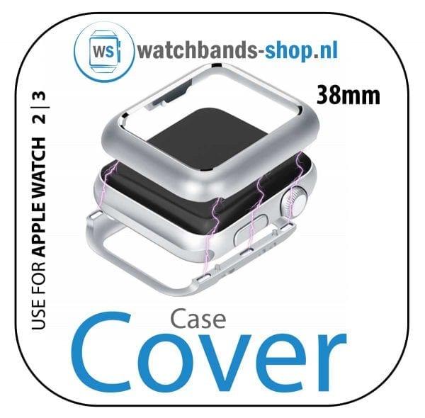 38mm beschermende Magnetisch adsorptieontwerp Case Cover Protector Apple watch 2 - 3 Zilver_001