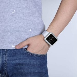 42mm beschermende Magnetisch adsorptieontwerp Case Cover Protector Apple watch 2 - 3 Zilver_003