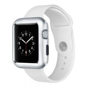 42mm beschermende Magnetisch adsorptieontwerp Case Cover Protector Apple watch 2 - 3 Zilver_004