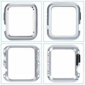 42mm beschermende Magnetisch adsorptieontwerp Case Cover Protector Apple watch 2 - 3 Zilver_005