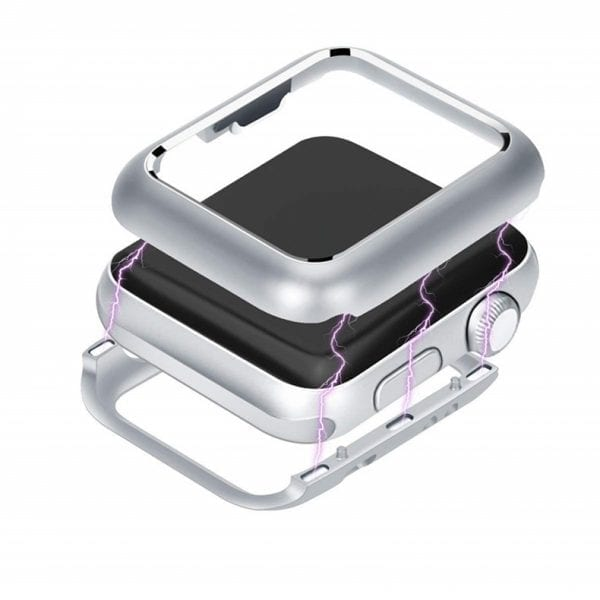 42mm beschermende Magnetisch adsorptieontwerp Case Cover Protector Apple watch 2 - 3 Zilver_007