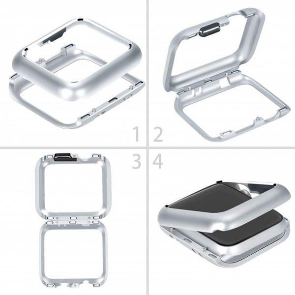 42mm beschermende Magnetisch adsorptieontwerp Case Cover Protector Apple watch 2 - 3 Zilver_008