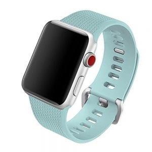 42mm en 44mm Sport bandje Turquoise geschikt voor Apple watch 1 - 2 - 3 - 4 _001