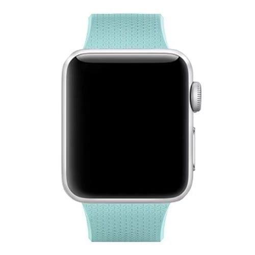 42mm en 44mm Sport bandje Turquoise geschikt voor Apple watch 1 - 2 - 3 - 4 _002