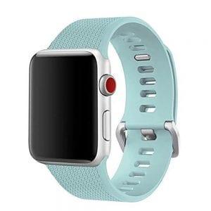 42mm en 44mm Sport bandje Turquoise geschikt voor Apple watch 1 - 2 - 3 - 4 _003