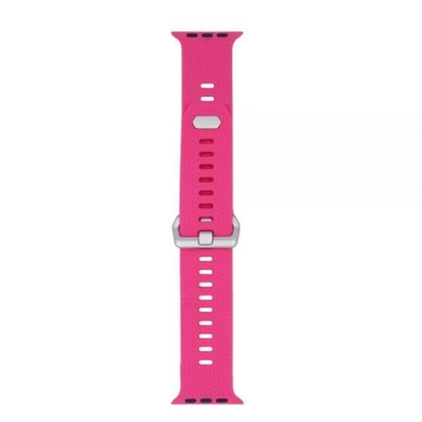 42mm en 44mm Sport bandje barbie pink geschikt voor Apple watch 1 - 2 - 3 - 4 _002