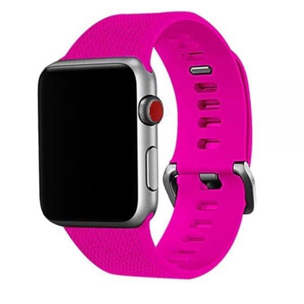 42mm en 44mm Sport bandje barbie pink geschikt voor Apple watch 1 - 2 - 3 - 4 _003