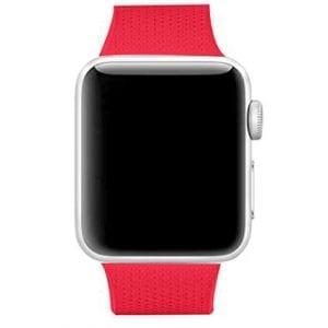 42mm en 44mm Sport bandje rood geschikt voor Apple watch 1 - 2 - 3 - 4 _001