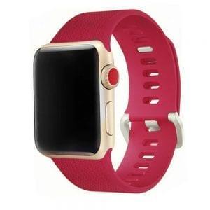 42mm en 44mm Sport bandje rood geschikt voor Apple watch 1 - 2 - 3 - 4 _002