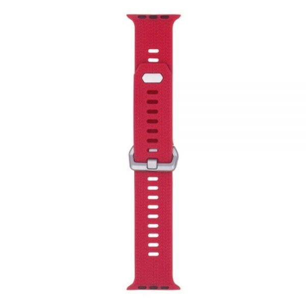 42mm en 44mm Sport bandje rood geschikt voor Apple watch 1 - 2 - 3 - 4 _003