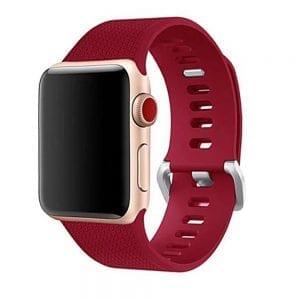 42mm en 44mm Sport bandje rose red geschikt voor Apple watch 1 - 2 - 3 - 4 _003