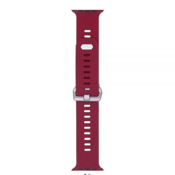 42mm en 44mm Sport bandje rose red geschikt voor Apple watch 1 - 2 - 3 - 4 _004