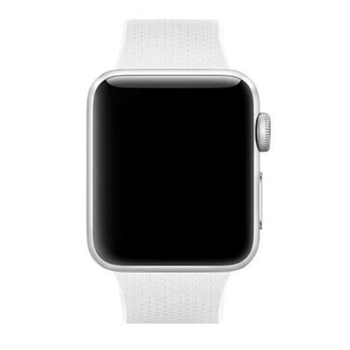 42mm en 44mm Sport bandje wit geschikt voor Apple watch 1 - 2 - 3 - 4 _001