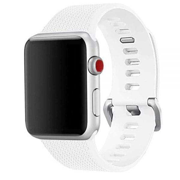 42mm en 44mm Sport bandje wit geschikt voor Apple watch 1 - 2 - 3 - 4 _002