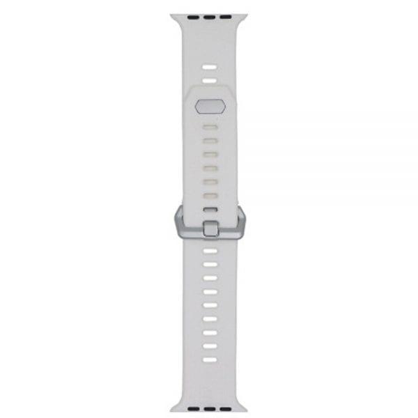 42mm en 44mm Sport bandje wit geschikt voor Apple watch 1 - 2 - 3 - 4 _003
