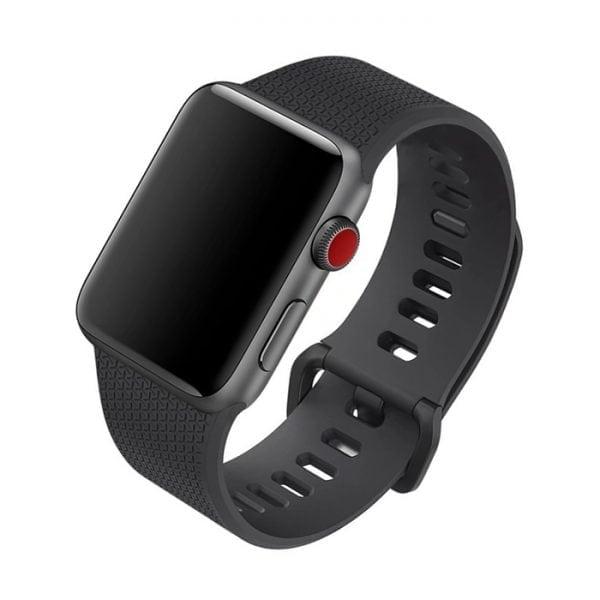 42mm en 44mm Sport bandje zwart geschikt voor Apple watch 1 - 2 - 3 - 4 _001