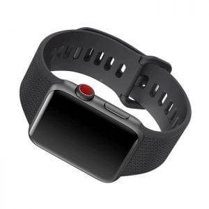 42mm en 44mm Sport bandje zwart geschikt voor Apple watch 1 - 2 - 3 - 4 _004