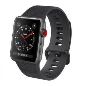 42mm en 44mm Sport bandje zwart geschikt voor Apple watch 1 - 2 - 3 - 4 _006
