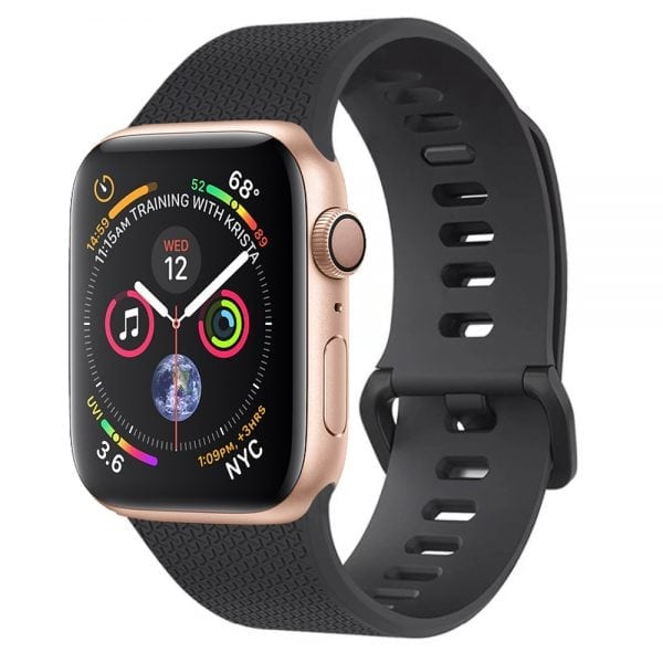 42mm en 44mm Sport bandje zwart geschikt voor Apple watch 1 - 2 - 3 - 4 _008