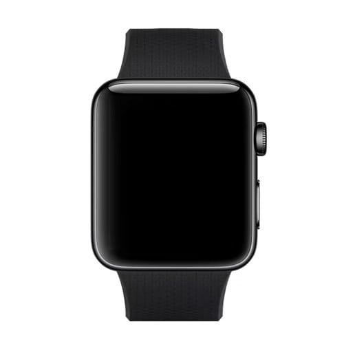 42mm en 44mm Sport bandje zwart geschikt voor Apple watch 1 - 2 - 3 - 4 _009