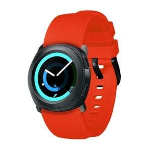 Samsung Gear Sport bandje / Galaxy Watch 42mm SM-R810 / Galaxy Watch 42mm SM-R810 silicone fel oranje small