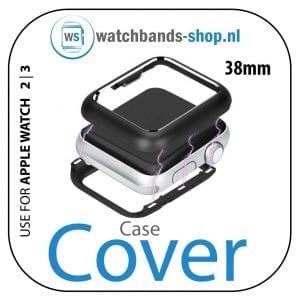 38mm beschermende Magnetisch Case Cover Protector Apple watch 2 - 3 zwart_1001